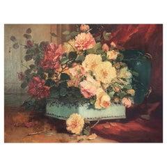 """Cauchois Henri """"Basket of Flowers"""""""