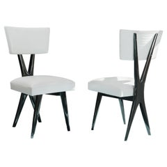 Pair of Ebonized Dining Chair Made in the 1950's