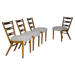1960s Czech Mid-Century Dining Chairs, Set of Four