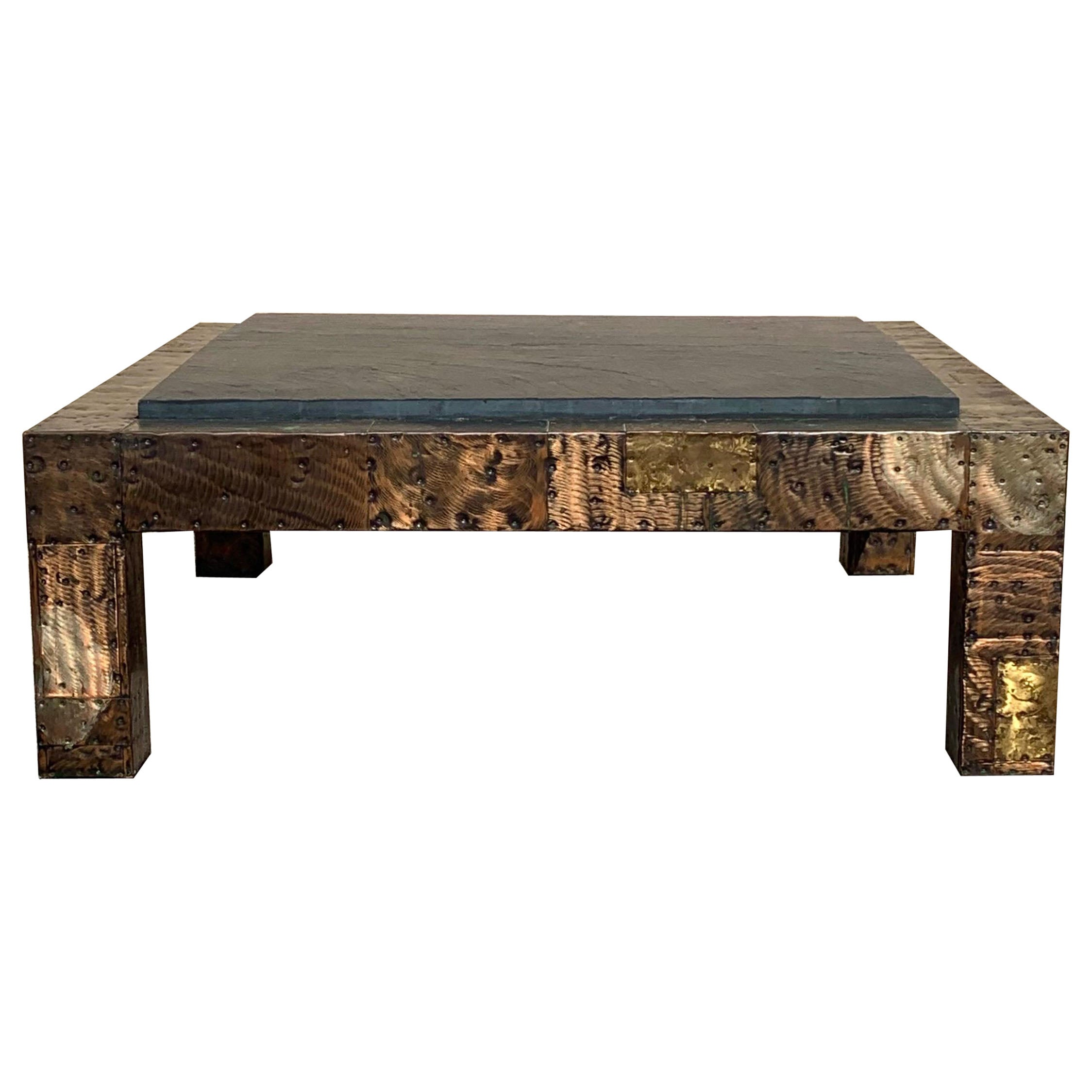 Paul Evans for Directional Brutalist Slate Top Coffee Table