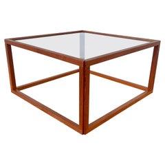 Kai Kristiansen Teak and Glass Coffee Table