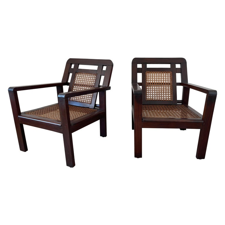 French Caned Chairs For Sale