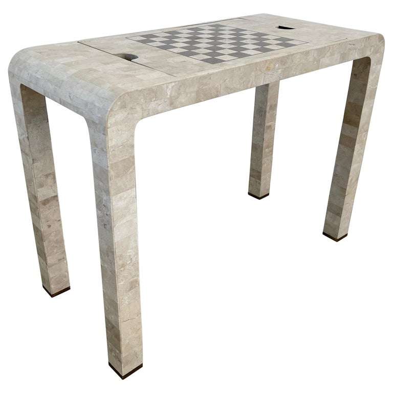 Stone Backgammon/Checkers Table For Sale