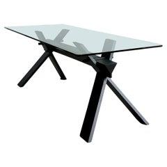 La Piana Italian Glass Table by Alfredo Simonit and Girgio Del Piero for Bross