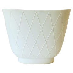 German White Matte Porcelain Vase by Rosenthal, ca. Early 20th C.