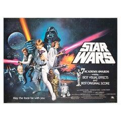 Star Wars Original 1977 UK Quad Style C Oscars Film Movie Poster, Chantrell