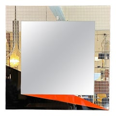 Italian Mid-Century Modern Decorative Mirror by Eugenio Carmi for Acerbis, 1980s