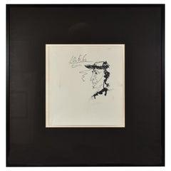 Pencil Sketch Original Portrait by Pablo Picasso