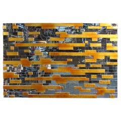 Mid-Century Modern Mosaic Mirror Wall Art