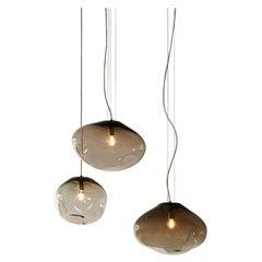 """Haumea Ceiling Lamp, Hand-Blown Murano Glass, 2021, Size """"M"""", Handmade Lighting."""