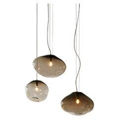 "Haumea Ceiling Lamp, Hand-Blown Murano Glass, 2021, Size ""L"", Handmade Lighting"