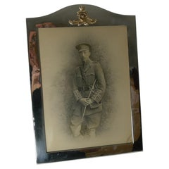 Large Antique English Silver Plated Military Photograph / Picture Frame c.1910