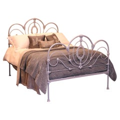 Victorian Double Antique Bed in Silver MD109