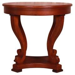 Baker Furniture Italian Provincial Mahogany Center Table, Newly Refinished
