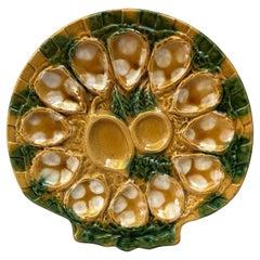 Majolica Oyster Platter Aetgina Vallauris Circa 1950