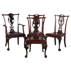 Set of Four English Chippendale Chairs