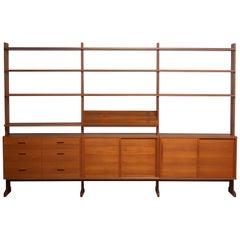 "1950s Teak Bookcase/Shelf System Model ""Parade"" by Nils Nisse Strinning"