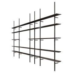 Black Hypostila Shelfs by Lluís Clotet & Oscar Tusquets