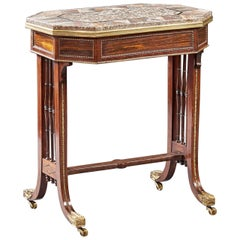 Rare English Regency Period Specimen Marble Table Attributed to Gillows