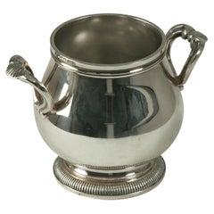 Sugar Pot in Silver Metal by Christofle, France, XX Century