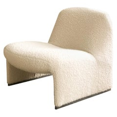 Alky Chair by Giancarlo Piretti for Artifort in Bouclé Fabric