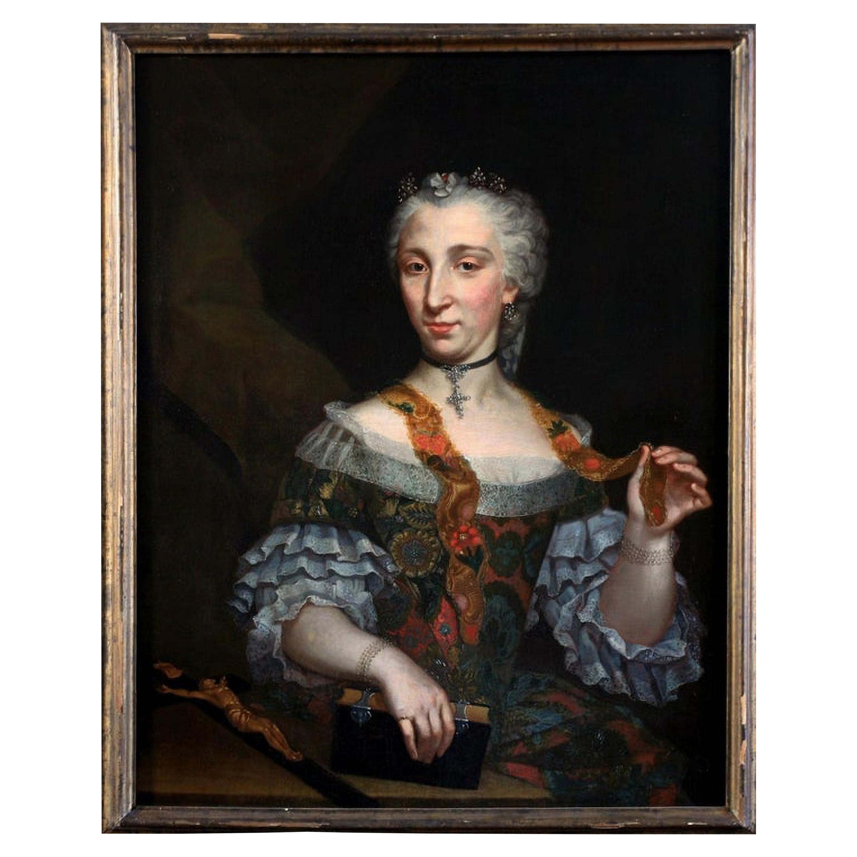 """18th Century French School """"Lady Portrait """""""