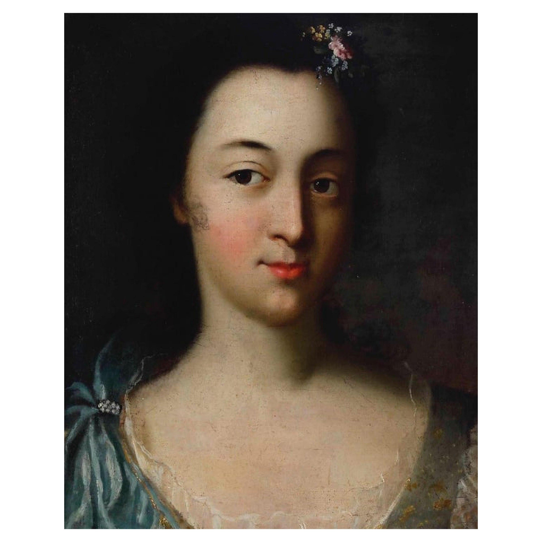 "French School 17th Century ""Portrait of a Lady"""