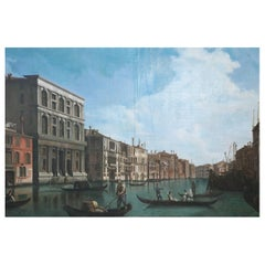 Venetian Canal and Gondolas Painting on Canvas