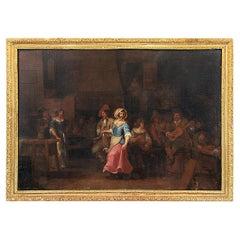 "Dutch School XVIIIth Century ""Party scene in a tavern"""