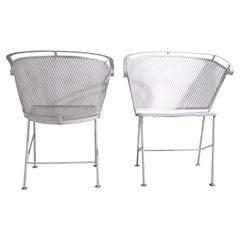 Pr. Mid Century Garden Patio Poolside Lounge Chairs Att. to Woodard