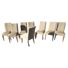 Set of 8 Formal Dining Chairs by Mitchell Gold for Restoration Hardware