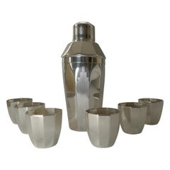 Art Deco Silver Plated Cocktail Shaker / Set by Elkington & Co.