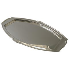 Stylish Art Deco Silver Plated Cocktail Tray, Reg. No. for 1933