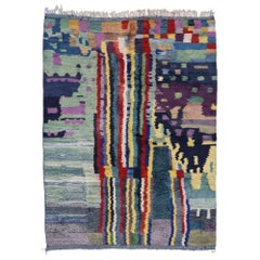 New Contemporary Berber Moroccan Rug with Abstract Cubism Style