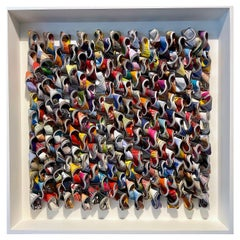 Brightly Colored Wall Sculpture by Belgian Artist Guy Leclef, Contemporary