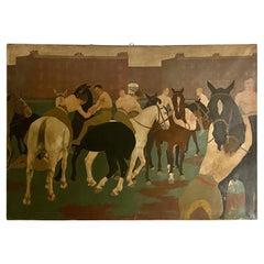 Huge Impressive Painting, by Eleanor Barbara Shiffner 1896-1982 'British'