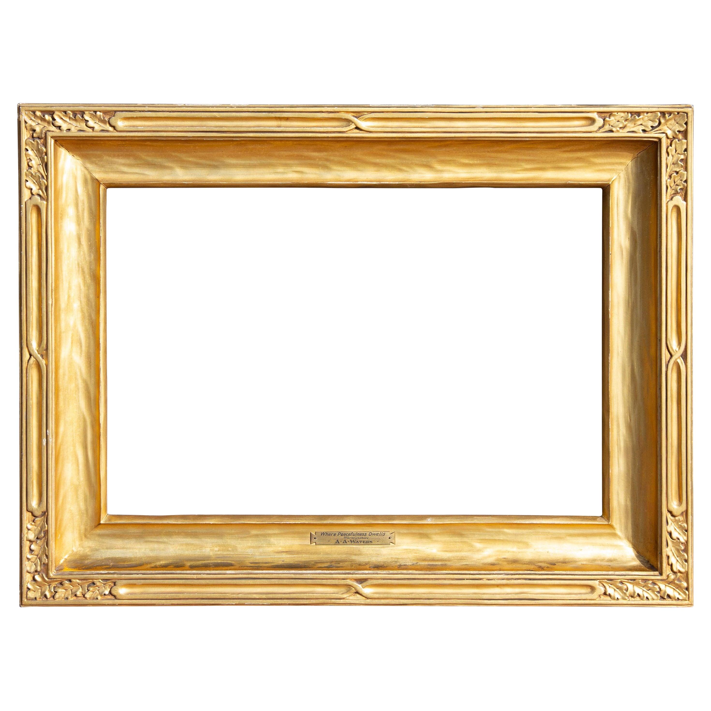 Antique Newcomb Macklin Carved Impressionist Frame