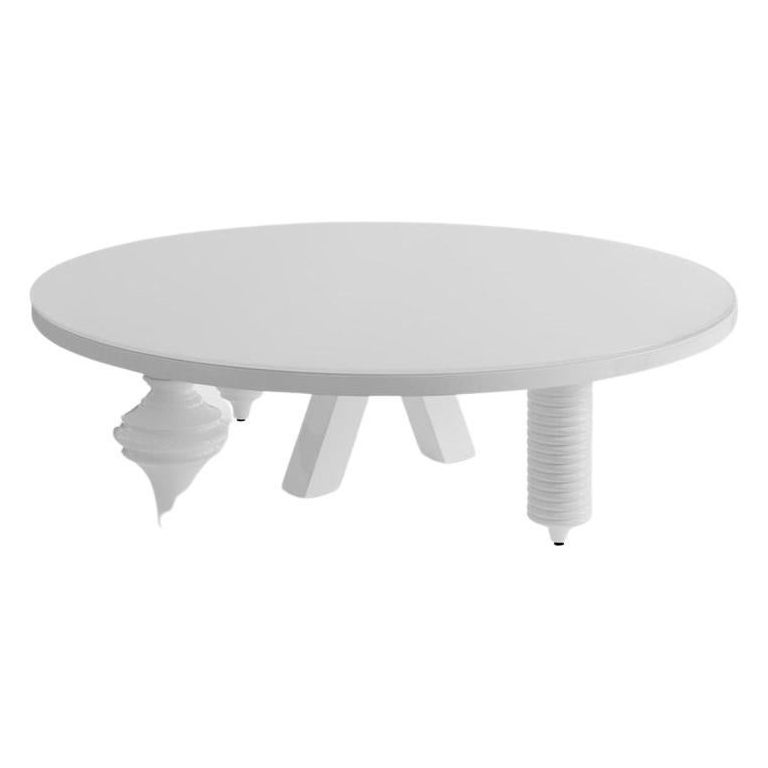 Round Gloss Multileg Low Table by Jaime Hayon