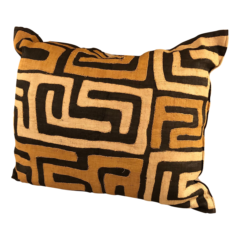 Large Graphic Kuba Cloth African Pillow