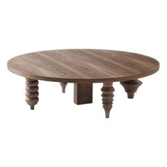 Round Walnut Multileg Low Table by Jaime Hayon