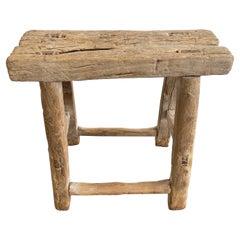 Vintage Elm Wood Stool