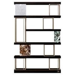 21st Century Carpanese Home Italia Bookshelf Modern, Aida 120