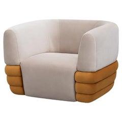 21st Century Carpanese Home Italia Upholstered Armchair Modern, Splendor