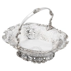 Antique English Silver George II Basket