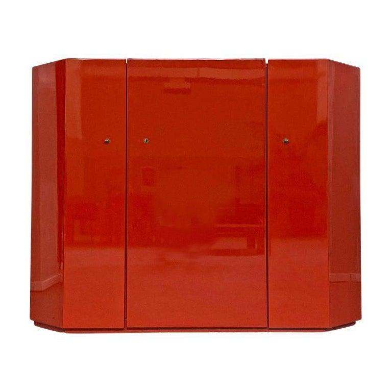 Italian Red Cabinet Mod. Bramante by Kazuhide Takahama for Gavina, 1975