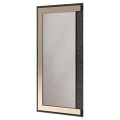 21st Century Carpanese Home Italia Mirror with Metal Details Modern, 7924