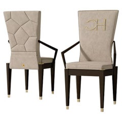 21st Century Carpanese Home Italia Armchair with Wooden Base Modern, 7511