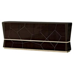 21st Century Carpanese Home Italia Sideboard with Metal Details Modern, 7556