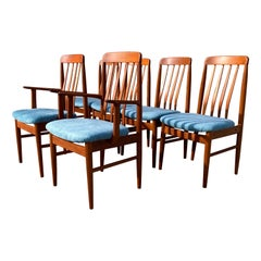 1970s Benny Linden Teak Dining Chairs, Set of 6