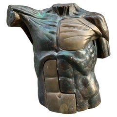 Bronze and Resin Bust of a Man, Signed by Cilenti, 1985